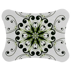 Frame Flourish Flower Green Star Jigsaw Puzzle Photo Stand (bow) by Alisyart