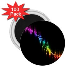 Illustrations Black Colorful Line Purple Yellow Pink 2 25  Magnets (100 Pack)