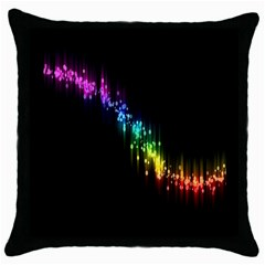 Illustrations Black Colorful Line Purple Yellow Pink Throw Pillow Case (black)
