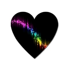 Illustrations Black Colorful Line Purple Yellow Pink Heart Magnet by Alisyart