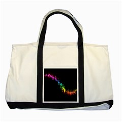 Illustrations Black Colorful Line Purple Yellow Pink Two Tone Tote Bag