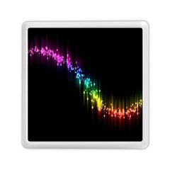 Illustrations Black Colorful Line Purple Yellow Pink Memory Card Reader (square)