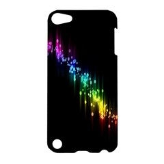 Illustrations Black Colorful Line Purple Yellow Pink Apple Ipod Touch 5 Hardshell Case by Alisyart