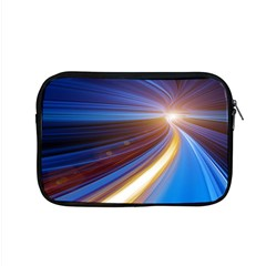 Glow Motion Lines Light Blue Gold Apple Macbook Pro 15  Zipper Case by Alisyart