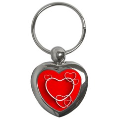 Heart Love Valentines Day Red Key Chains (heart)