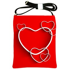 Heart Love Valentines Day Red Shoulder Sling Bags