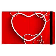 Heart Love Valentines Day Red Apple Ipad 2 Flip Case