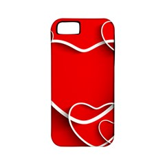 Heart Love Valentines Day Red Apple Iphone 5 Classic Hardshell Case (pc+silicone)