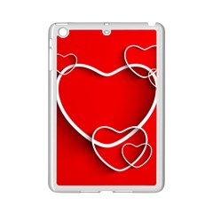 Heart Love Valentines Day Red Ipad Mini 2 Enamel Coated Cases