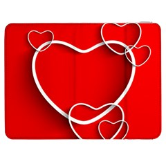 Heart Love Valentines Day Red Samsung Galaxy Tab 7  P1000 Flip Case