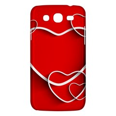 Heart Love Valentines Day Red Samsung Galaxy Mega 5 8 I9152 Hardshell Case  by Alisyart