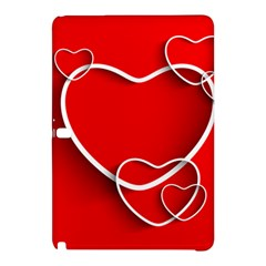 Heart Love Valentines Day Red Samsung Galaxy Tab Pro 10 1 Hardshell Case by Alisyart