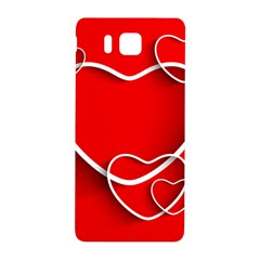 Heart Love Valentines Day Red Samsung Galaxy Alpha Hardshell Back Case by Alisyart