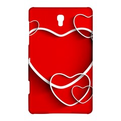 Heart Love Valentines Day Red Samsung Galaxy Tab S (8 4 ) Hardshell Case
