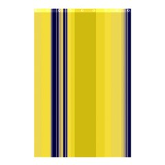Yellow Blue Background Stripes Shower Curtain 48  X 72  (small)  by Simbadda
