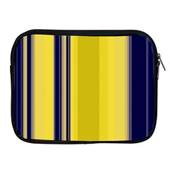 Yellow Blue Background Stripes Apple Ipad 2/3/4 Zipper Cases by Simbadda