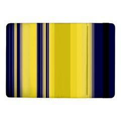 Yellow Blue Background Stripes Samsung Galaxy Tab Pro 10 1  Flip Case by Simbadda