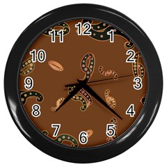 Brown Forms Wall Clocks (black)