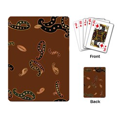 Brown Forms Playing Card