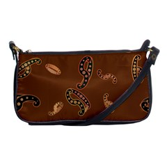 Brown Forms Shoulder Clutch Bags by Simbadda