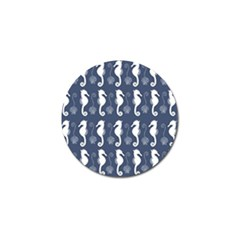Seahorse And Shell Pattern Golf Ball Marker (10 Pack) by Simbadda