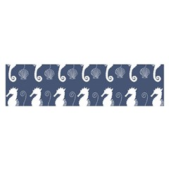 Seahorse And Shell Pattern Satin Scarf (oblong)