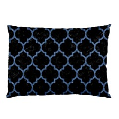 Tile1 Black Marble & Blue Denim Pillow Case by trendistuff