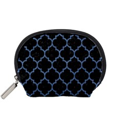 Tile1 Black Marble & Blue Denim Accessory Pouch (small) by trendistuff