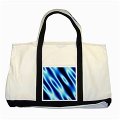 Grunge Blue White Pattern Background Two Tone Tote Bag by Simbadda