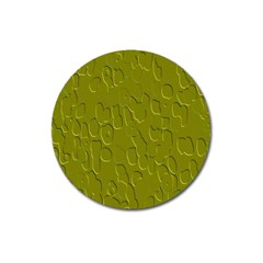 Olive Bubble Wallpaper Background Magnet 3  (round) by Simbadda
