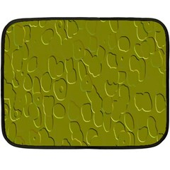 Olive Bubble Wallpaper Background Double Sided Fleece Blanket (mini)  by Simbadda