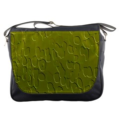 Olive Bubble Wallpaper Background Messenger Bags