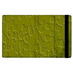 Olive Bubble Wallpaper Background Apple Ipad 2 Flip Case by Simbadda