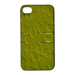 Olive Bubble Wallpaper Background Apple Iphone 4/4s Hardshell Case With Stand by Simbadda