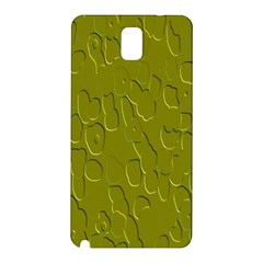 Olive Bubble Wallpaper Background Samsung Galaxy Note 3 N9005 Hardshell Back Case by Simbadda