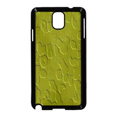 Olive Bubble Wallpaper Background Samsung Galaxy Note 3 Neo Hardshell Case (black) by Simbadda