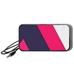 Pink Pattern Portable Speaker (black) by Simbadda