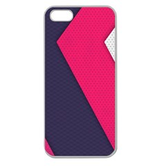 Pink Pattern Apple Seamless Iphone 5 Case (clear) by Simbadda
