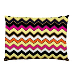 Colorful Chevron Pattern Stripes Pattern Pillow Case by Simbadda