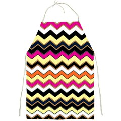 Colorful Chevron Pattern Stripes Pattern Full Print Aprons by Simbadda