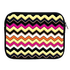 Colorful Chevron Pattern Stripes Pattern Apple Ipad 2/3/4 Zipper Cases by Simbadda