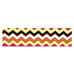 Colorful Chevron Pattern Stripes Pattern Satin Scarf (oblong)