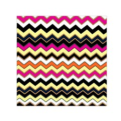 Colorful Chevron Pattern Stripes Pattern Small Satin Scarf (square) by Simbadda