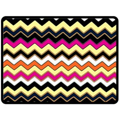 Colorful Chevron Pattern Stripes Pattern Fleece Blanket (large)  by Simbadda