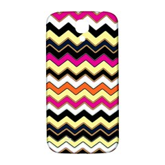 Colorful Chevron Pattern Stripes Pattern Samsung Galaxy S4 I9500/i9505  Hardshell Back Case by Simbadda