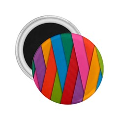 Colorful Lines Pattern 2 25  Magnets