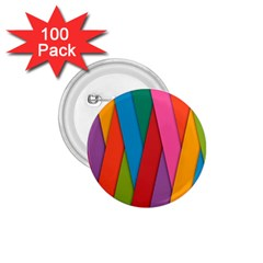 Colorful Lines Pattern 1.75  Buttons (100 pack)