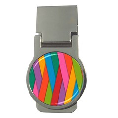 Colorful Lines Pattern Money Clips (Round)
