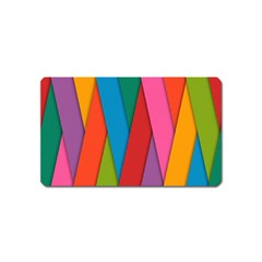 Colorful Lines Pattern Magnet (Name Card)