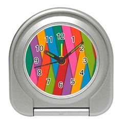 Colorful Lines Pattern Travel Alarm Clocks